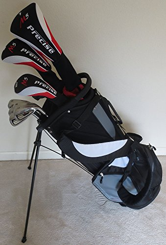 - Men's RH Complete Golf Set Driver, Fairway Wood, Hybrid, Irons, Putter & Stand Bag Firm Flex