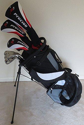Men s RH Complete Golf Set Driver, Fairway Wood, Hybrid, Irons, Putter Stand Bag Firm Flex