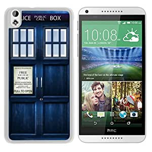 Tardis Doctor Who White Personalized Recommended Custom HTC Desire 816 Phone Case
