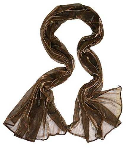 - Soft Wedding Evening Pashmina Shawls Wraps Scarfs for Mother's Day Gifts Brown Gold