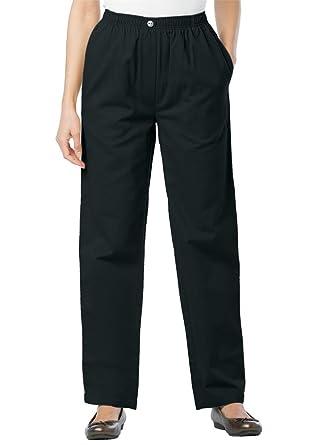 Women's Plus Size Tall 100 Cotton Comfort Pull On Jean at Amazon ...