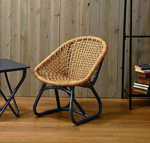 チェア ローチェア アウトドアチェア サイドチェア 椅子 ラタン 籐 アバカ 完成品 コンパクト 軽量 持ち運び可能 北欧 おしゃれ (ディープパープル) B07DBMVZ8Q  ディープパープル
