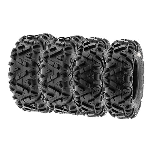(SunF ALL TERRAIN ATV UTV 6 Ply Race Tires 27x9-12 & 27x11-12 Tubeless A033 POWER I, [Set of 4])