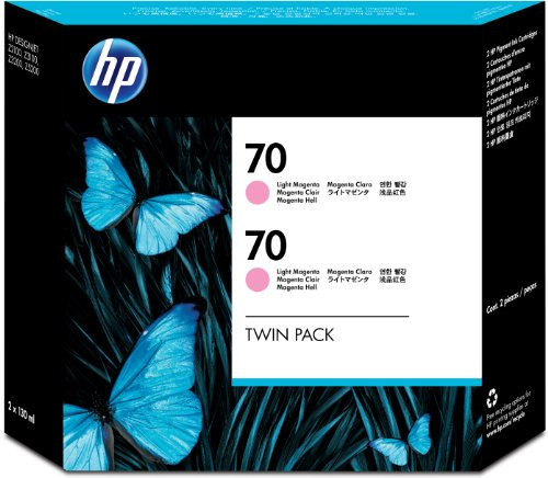 HP 70 Lt Magenta 130 Ml Crtg Twin Pack Use in Desingjet Printers