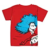 Bumkins Dr. Seuss Short Sleeve Toddler Tee, Thing 1, 3T