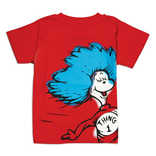 UPC 014292985761, Bumkins Dr. Seuss Short Sleeve Toddler Tee, Red Thing 1, 3T