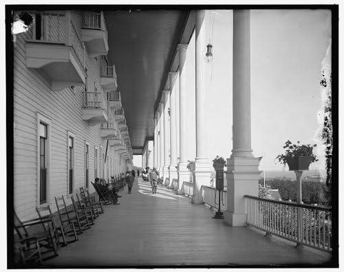 Amazon Com Infinite Photographs Photo Grand Hotel Veranda Resorts Porches Inns Chairs Mackinac Island Michigan Mi 1900 Photographs