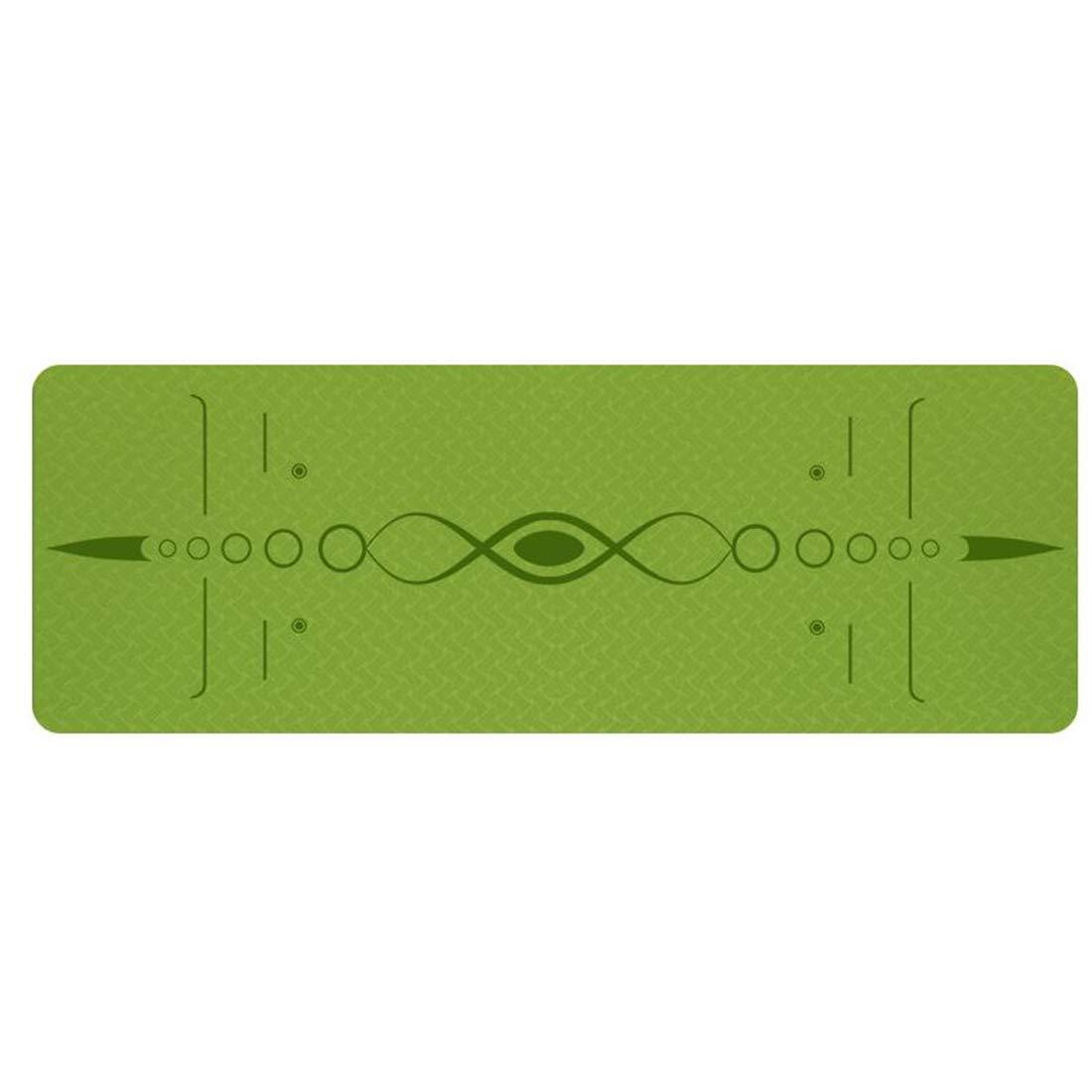 Mint vert Yajiemei Tapis de Yoga avec Sangle - Tapis de Yoga 6   8mm épais, antidérapant, léger, écologique, très Grand 72 X 24    72 X 31.5  pour Exercice de Fitness Yoga Pilates 183cmX66cm6mm