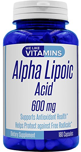 Alpha Lipoic Acid 600mg 180 Capsules - 6 month supply - Best Value Alpha Lipoic Acid Capsules