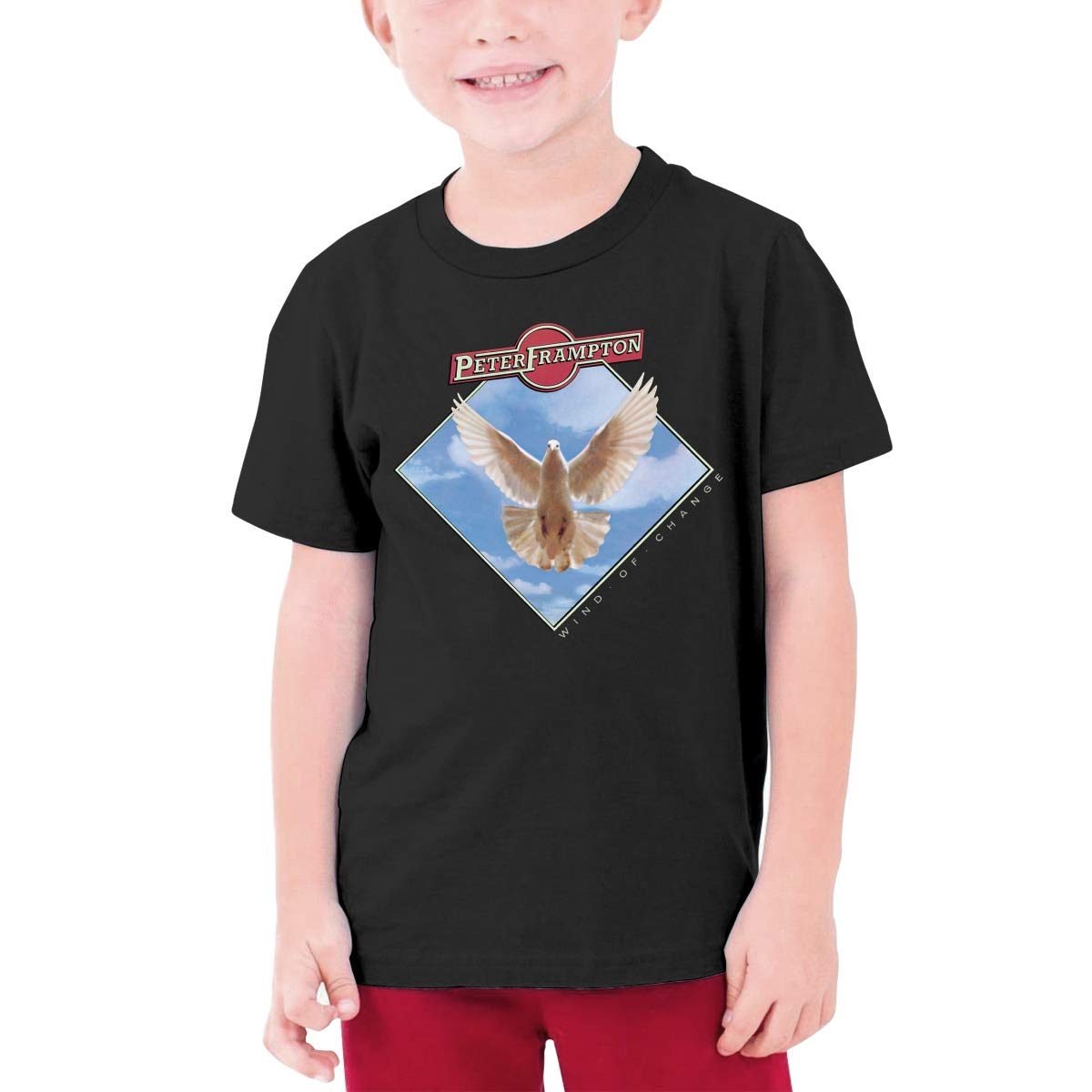 Boys Peter Frampton-Wind of Change T-Shirt Childrens Short Sleeve Shirt