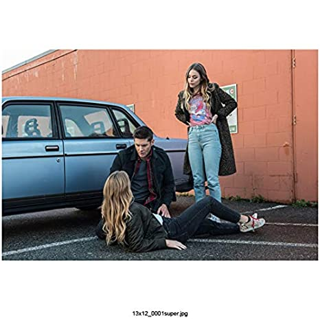 Supernatural Jordon Claire Robbins As Jamie Lying Down Jensen Ackles As Dean And Elisa Gatien As