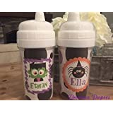 personalized halloween sippy cups monster cup spider cup personalized kids sippy cups