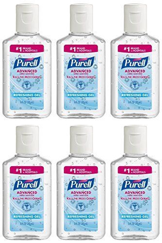 Active Ingredient Hand Sanitizer (Purell Advanced Hand Sanitizer Refreshing Gel, 1 Fl Oz (6-Pack))