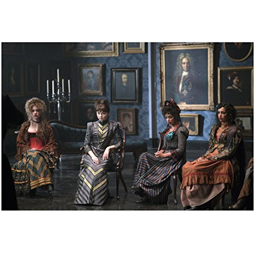 Penny Dreadful (2014 - ) 8 inch by 10 inch PHOTOGRAPH Female Cast Full Body Seated in Portrait Filled Room kn