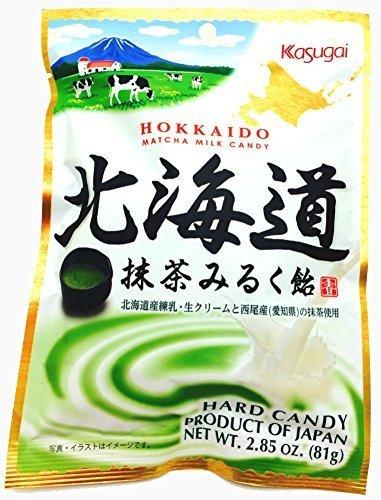 Kasugai Japan Hokkaido Matcha Milk Candy 81g x 12 bags by Kasugai