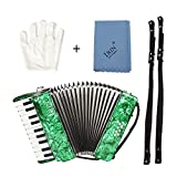 ammoon 22-Key 8 Bass Piano Accordion with Straps
