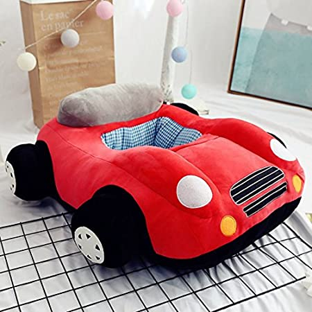 Podster Baby Lounger Kids Lounger Chair Kids Bean BBag Plush Seat for Baby Car Plush Sofa for Baby (Pink) EELHOE