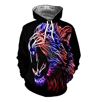 Clearance, Women Lovers Hooded 3D Printing Pullover