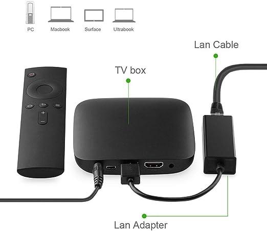 OSTENT Cable de adaptador LAN USB de red de Internet USB para Nintendo Switch / Wii / Wii U: Amazon.es: Videojuegos