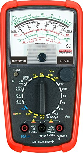 Tekpower TP7244L 7-Function 20-Range Analog Multimeter With Back Light with Strong Protective Holster by Tekpower (Image #1)
