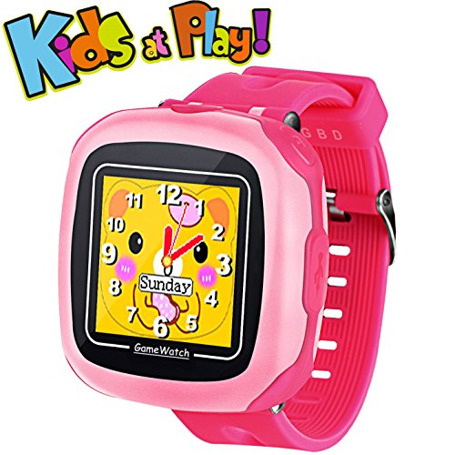 "Game Smart Watch for Kids Children Boys Girls with Camera 1.5"" Touch 10 Games Pedometer Timer Alarm Clock Toy Wrist Watch Health Monitor (001CutePink)"