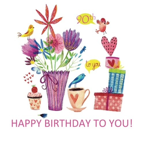 Download HAPPY BIRTHDAY TO YOU!  90th: Birthday Gift Book with Sentimental Greetings Inside and Birthday Art; 90th Birthday Gifts for Women in al; 90th ... Card in al; 90th Birthday Cards in office PDF
