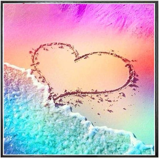 Diamond Painting Kits,YESZ Wall Art 30x30cm Beach Love Heart Embroidery Cross Stitch DIY Full Round Diamond Painting