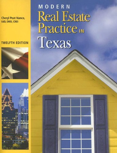 Modern Real Estate Practice in Texas, 12th Edition