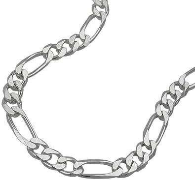 ba37e8fb17bf Unbespielt Armband Figaroarmband Damen flach 6 x diamantiert 925 Silber  Länge 21 cm x 5 mm Armkette Armschmuck  Amazon.de  Schmuck