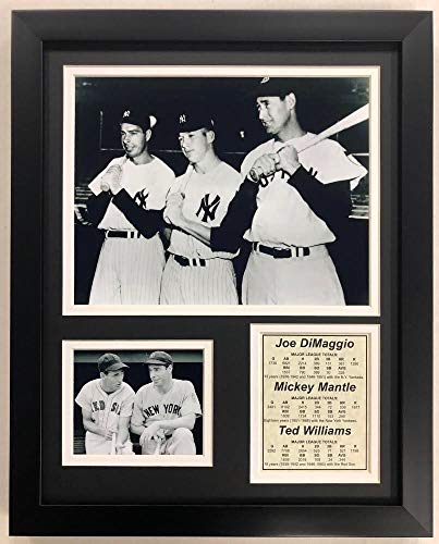 "Legends Never Die ""Joe DiMaggio, Mickey Mantle and Ted Williams Framed Photo Collage, 11 x 14-Inch"