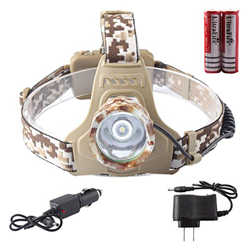 Xtreme Lighted Running Board (1 Pack Imposing Fashionable 5000 Lumens Camouflage CREE XM-L T6 LED Flashlight Headlamp Headlight Ultra Xtreme Tactical Bright Light Waterproof Outdoor Running Camping Lights w/ 18650 Battery Charger)