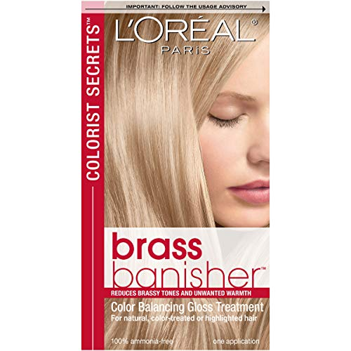L'Oreal Paris Colorist Secrets Brass Banisher, Color Balancing Gloss Treatment (Best Box Dye To Lighten Dark Hair)