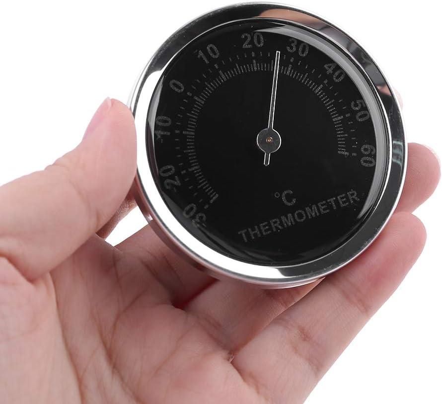 mechanisch analog 58 mm mit Aufkleber FangWWW Mini-Thermometer f/ür das Auto