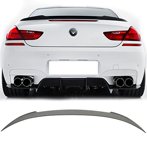 - Trunk Spoiler Wing Fits 2012-2017 BMW F13 6 Series Coupe and F06 Gran Coupe | V Style Matte Black ABS Car Exterior Trunk Spoiler Rear Wing Tail Roof Top Lid by IKON MOTORSPORTS | 2013 2014 2015 2016