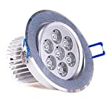 10PCS Jcmd Dimmable 7W Day White LED Spot Beam Ceiling Light, Driver Included