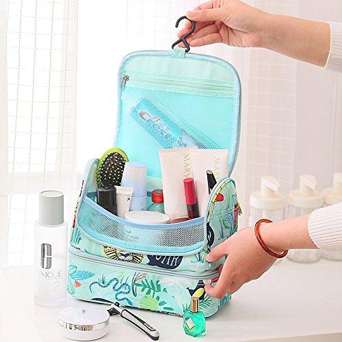 Hanging Toiletry Bag,Sorliva Multifunctional Cosmetic Bag Makeup Organizer with Hook Travel Hanging Organizer Bag for Women Girls Animal world