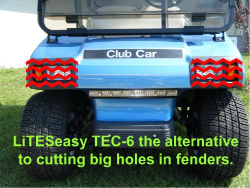 LiTESeasy Deluxe Wireless Remote Control Golf Cart LED Light &Turn Signal Kit w/Free Pocket Remote by TecScan (Image #2)