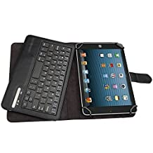 "SODIAL(R) Universal Bluetooth Keyboard Case Cover For 7"" 8"" inch Tablet PU Leather, including iPad Mini, 2 ; Samsung Galaxy Tab3, Tab 4; Google Nexus 7; Dell Venue 8 Pro; Acer Iconia Tab A100 Black"