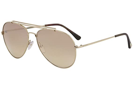 a609713324 Image Unavailable. Image not available for. Color  Tom Ford Sunglasses 0497  Indiana 28Z Shiny Rose Gold Brown Gradient