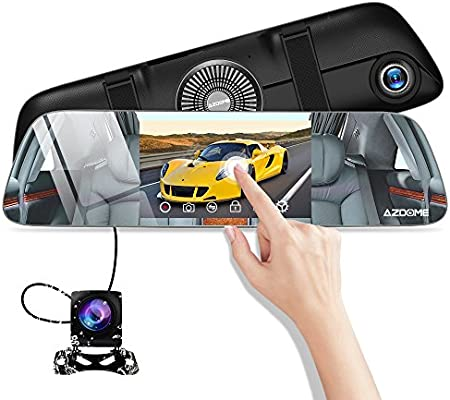 Camara De Espejo Para Carro Auto Video Gravadora Reversa Y Frontal 1080P FHD New
