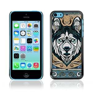CaseCaptain Carcasa Funda Case - Apple iPhone 5C / Cool Wolf Illustration /