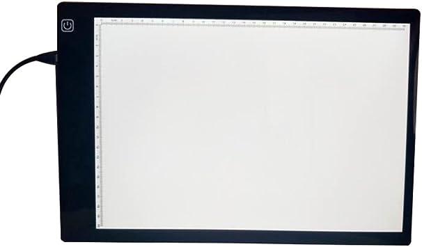 symboat tabla de dibujo LED caja de luz A4 copiadora Station USB recargable Art plantilla consejos Tatuajes plana de marcaje: Amazon.es: Bricolaje y herramientas