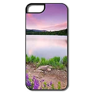 Cool Mountain Lake Flowers Case For IPhone 5/5s
