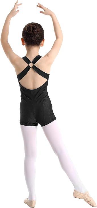 Kids Girls Sports Tank Tops Cross Back Gymnastic Dance Leotard Unitard Bodysuit