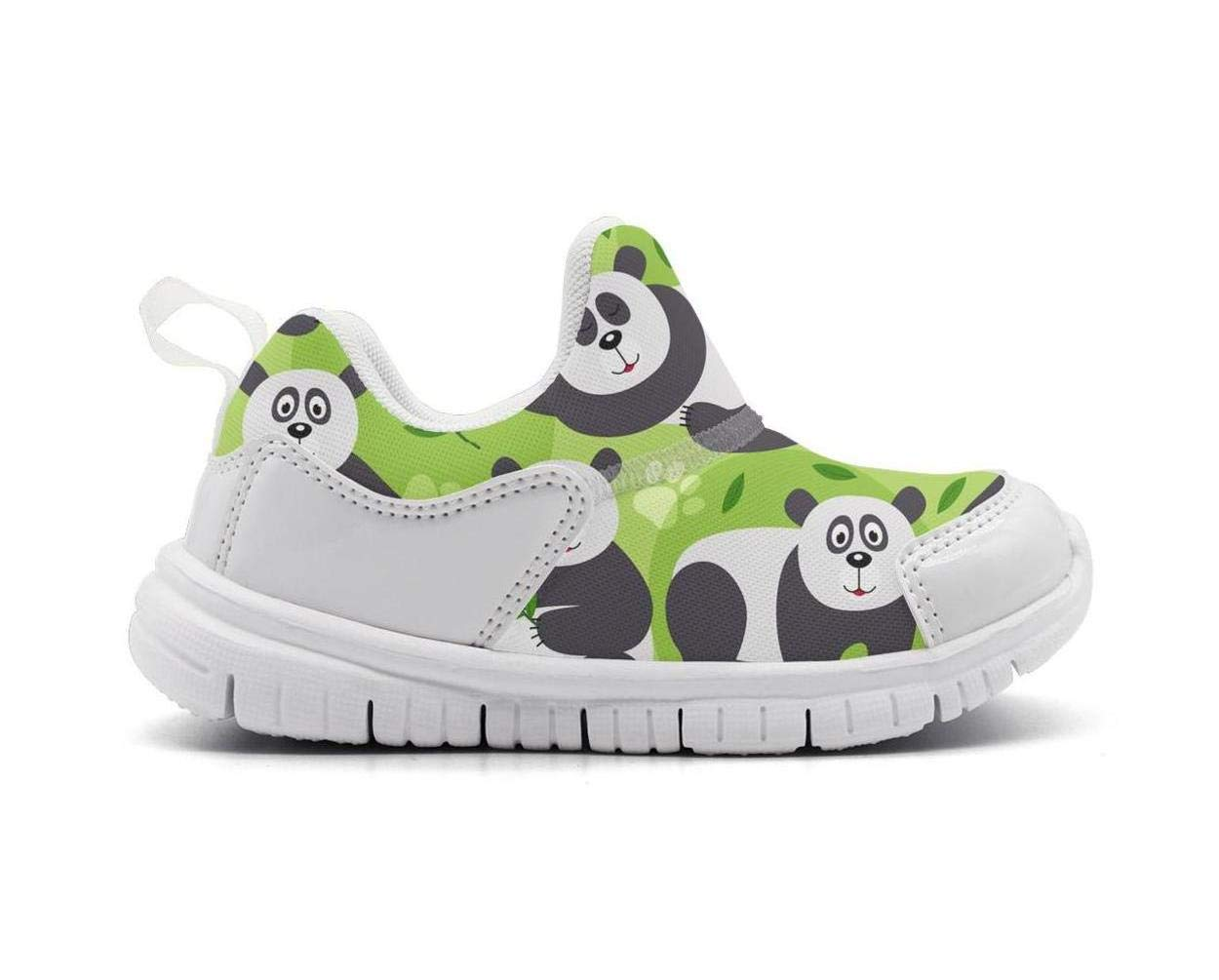 ONEYUAN Children Green Bamboo Panda Bear Kid Casual Lightweight Sport Shoes Sneakers Running Shoes