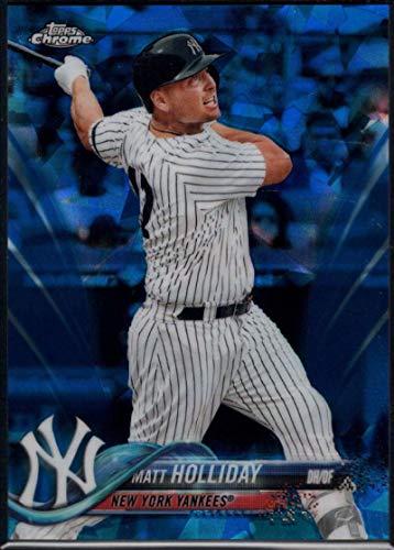 (Baseball MLB 2018 Topps Chrome Sapphire #435 Matt Holliday Yankees)