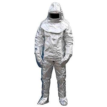 Traje aluminizado resistente al calor de 1000 grados de radiación ...