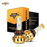 headlights bright - Auxbeam LED headlights Extremely Bright F-16 Series 9006 / HB4 LED Headlight bulbs with 2 Pcs of led bulbs conversion kits 60W 6000lm CREE LED Chips - 1 Year Warranty