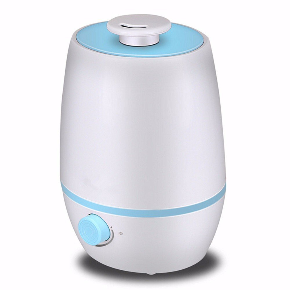 HOMEE Humidifier lights home bedroom mute large capacity air purification office woman mini air aromatherapy machine,Blue