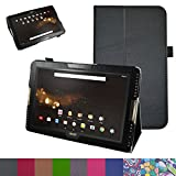 """Acer Iconia One 10 B3-A30 Case,Mama Mouth PU Leather Folio 2-folding Stand Cover with Stylus Holder for 10.1"""" Acer Iconia One 10 B3-A30 Android Tablet, Black"""
